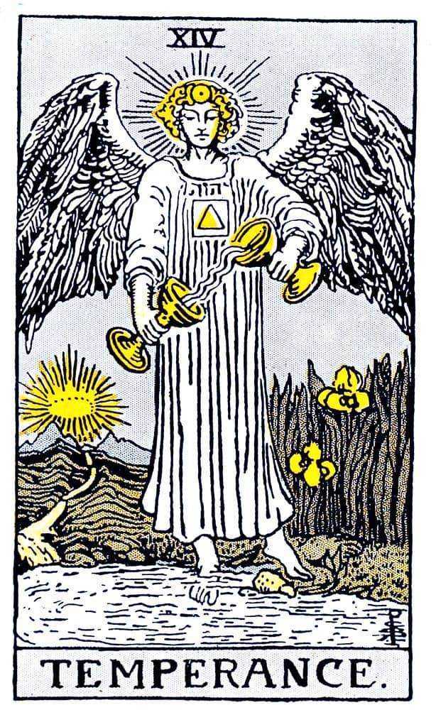 the temperance card in love tarot reading  spiritual