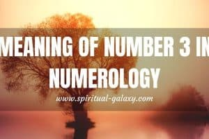 Meaning of Number 3 in Numerology