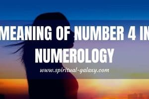 Meaning of Number 4 in Numerology