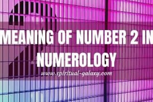 Meaning of Number 2 in Numerology