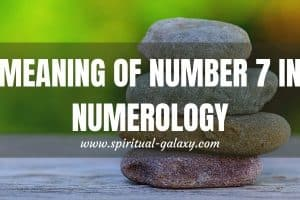 Meaning of Number 7 in Numerology