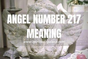 Angel Number 217 Secret Meaning